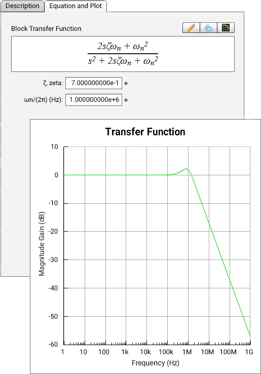 create jitter transfer function